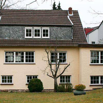 Fassadenarbeiten, vorher