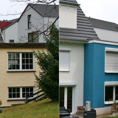 Fassadenarbeiten, Vergleich vorher/ nachher